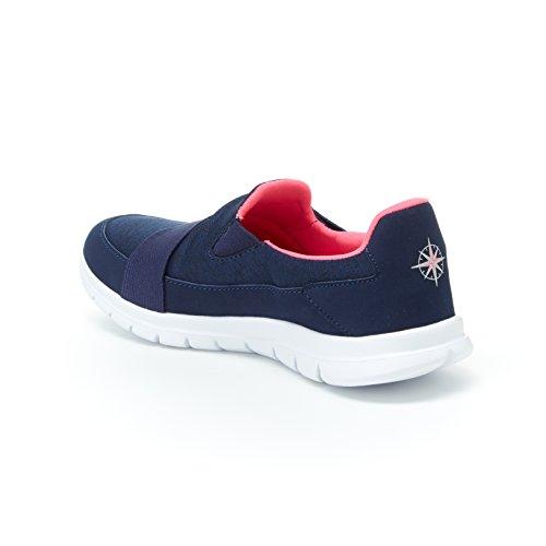 Harborsides Monica Sneaker - Slip-on Komfort Sportskor, Minne Skum Innersula Navy