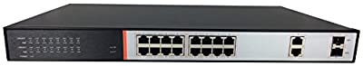 Aposonic A-POE-SW162GS 2 Port Gigabit SFP Switch, IEEE 802.3af/at, designed for IP Cameras / AP