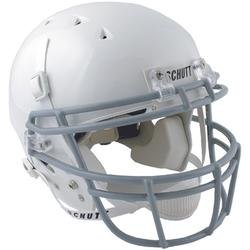 - Schutt Youth DNA Recruit Football Helmet with Grey ROPO Face Mask - White/Grey Large
