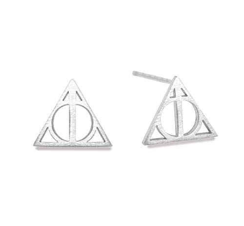 Altitude Boutique Geometric Triangle Stud Pyramid Earrings Punk Earrings (Gold, Silver) (Silver Tone) ()