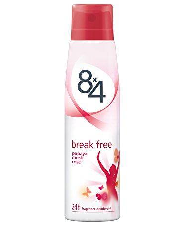 8x4 Deodorant Break Free, aluminiumfrei, 6er Pack (6 x 150 ml)