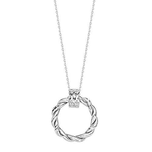 Gold Necklace Braided Round Doorknocker Style Pendant ()