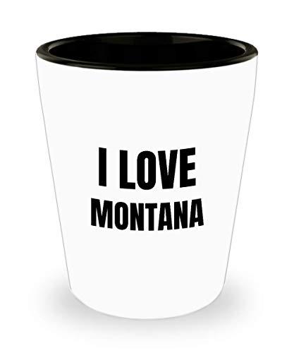 I Love Montana Shot Glass Shotglass Funny Gift Idea For Liquor Lover Alcohol 1.5oz