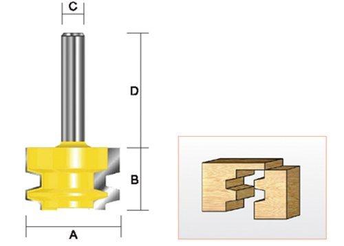 3//4-Inch Cutting Length Kempston 605011 Drawer Lock Bit 1//4-Inch Shank 1-1//16-Inch Cutting Diameter