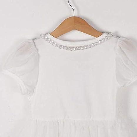 feiXIANG Vestido de niña Bebé recién Nacido Ropa de niña Bebé Dulce Encaje Tutu Vestido de Princesa Fiesta de Bodas Vestido de cumpleaños Vestido de Fiesta ...
