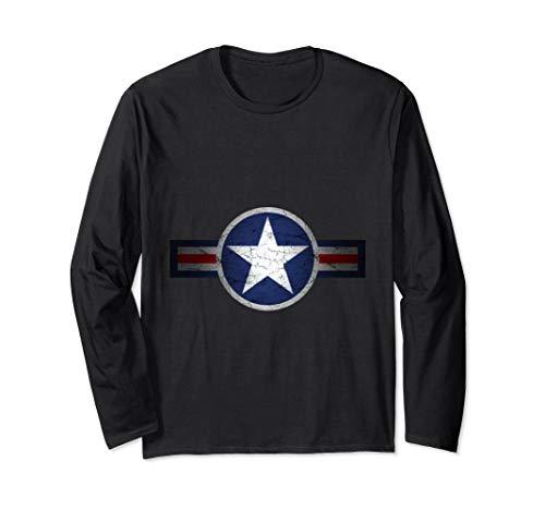 Vintage Army Air Corps Patriotic Star Long Sleeve ()