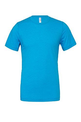 "Unisex poly-baumwolle kurzarm t-shirt (BE119) - Neon Blau, Medium / 38""-41"""