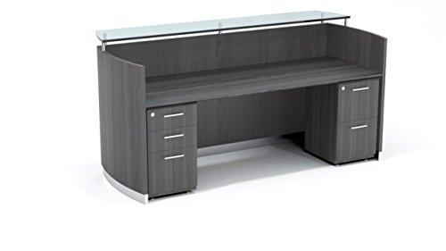 Mayline Medina Series Reception Station with 1 Box/Box/File and 1 File/File (Mayline Reception Desk)