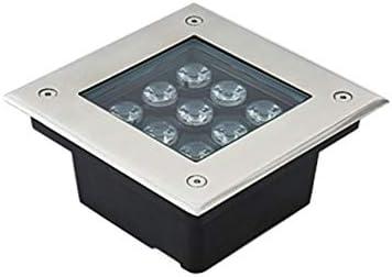 AMDHZ Foco Empotrable de Suelo LED Focos Exterior Led Ingenieria Aclarar IP67 AC220V 9W 810LM Rectángulo Incrustado Destacar Parque Césped (Color : G, Size : 16W)