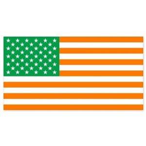Irish American Flag car bumper sticker decal 5