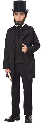 (California-Costumes Boy's Abraham Lincoln Frederrick Douglas Halloween Costume, Child M)