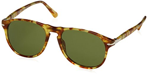 Persol Men's 0PO6649S Limited Edition Yellow Tortoise/Green One ()