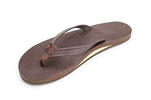- Rainbow Sandals Women's Single Layer Premier Leather Narrow Strap, Mocha, Ladies Large / 7.5-8.5 B(M) US