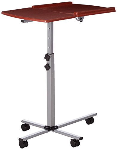 Stand Speaker Lectern (Flash Furniture Angle Height Adjustable Mobile Laptop Computer Table Cherry Top)