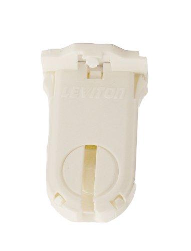 Leviton 23660-SWP Fluorescent Lampholder, T8/T12 (G13 base) Medium Bi-Pin, Shunted, Turn-Type with Lamp Lock, 30 MM G13 Base Type
