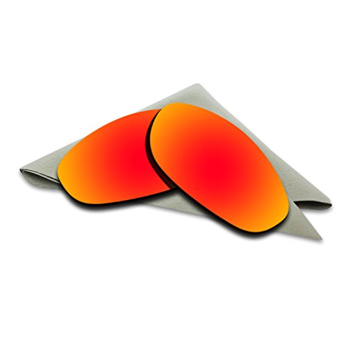 Fire Red Mirrored Polarized Lenses Replacement for Oakley Monster Dog Sunglasses