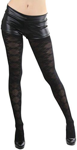 Argyle Pantyhose - ToBeInStyle Women's Argyle Design Pantyhose - Black