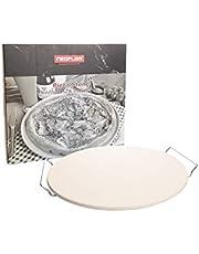 حجر البيتزا من نيوفلام مصنوع من كورديريت، يحتوي على إطار حديد مطلي