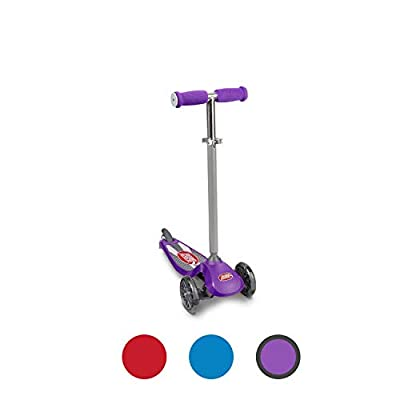 Radio Flyer Lean 'N Glide Scooter with Light Up Wheels Kids Scooter Purple: Toys & Games