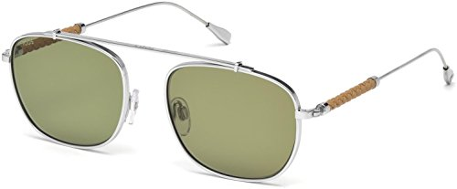 Tods TO0199 Sunglasses 53 18N Shiny Rhodium - Tod Sunglasses