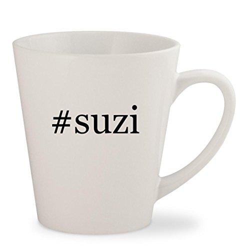 Price comparison product image #suzi - White Hashtag 12oz Ceramic Latte Mug Cup