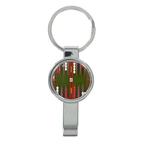 Backgammon Board Cap Remover Keyring with Free Gift Box