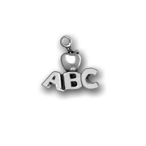 Pewter Charm - ABC with Apple