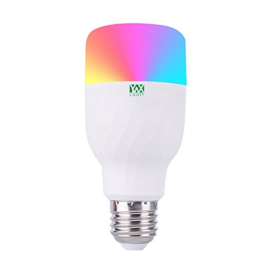 Colorful WiFi Smart LED Light Bulb, E27 Dimmable RGB WiFi Lamp Smartphone APP Controlled Colorful Night Light Work with Alexa and Google Home by Pavlit