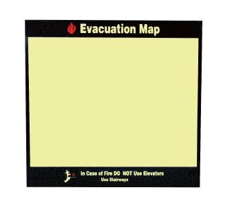 NMC EMH5, Evacuation Map Holder (Pack of 3 pcs) ()