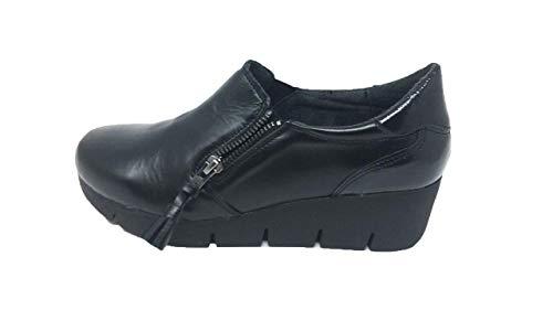ABACK Women 5cm Platform Shoe Leather Zip Black vrA5vqwc