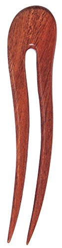 MaryCrafts Wooden Rosy Wavy Hair Pin, Hair Fork, Hair Stick, Hair Accessory Handmade 5.12