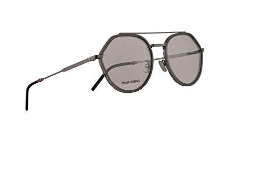 Christian Dior Homme Dior0219 Eyeglasses 52-19-150 Khaki Ruthenium w/Demo Clear Lens LB9 0219