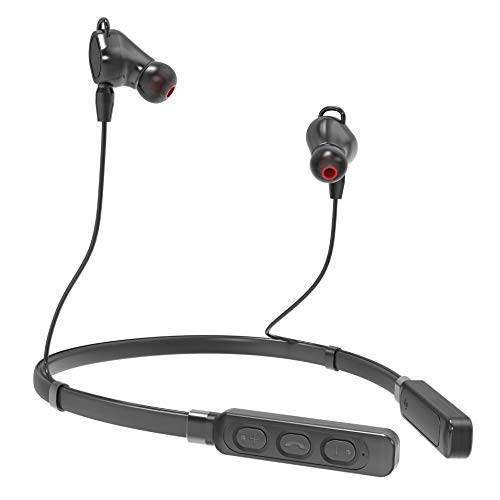 SHINETAO Wireless Headphones, Bluetooth 5.0 Magnetic Neckband Headset In-Ear Earbuds with Mic, 10 Hours Playing Time in Stereo Sound, Sweatproof for Sport, Running, Cycling, Gym