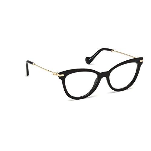 MONCLER ML 5018 Eyeglasses, 001 - Shiny Black, Demo Clear - Shiny Moncler