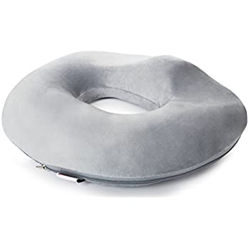 Donut Seat Cushion Pillow Memory Foam – Contoured & Premium Comfort Cushion for Hemorrhoids, Prostate, Pregnancy, Post Natal Sciatica Coccyx Pain Relief, Surgery & Relieves Tailbone Pressure Dr Flink