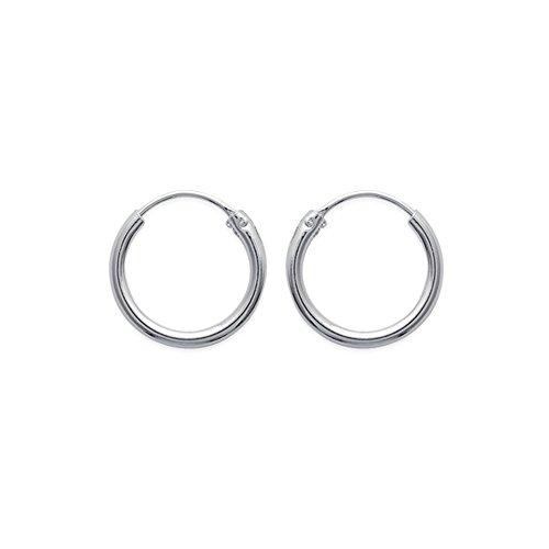 Tousmesbijoux Boucles d'oreilles créoles 20 mm Argent 925/00