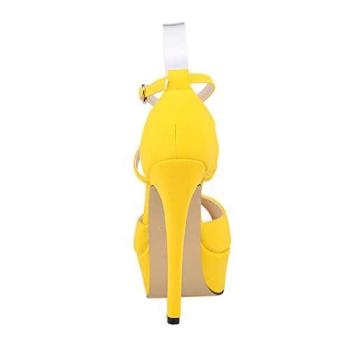 7952e7d3f0356 ZriEy Women Sandals 14CM / 5.5 inches High-Heeled Peep Toe - Import It All