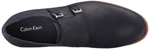 Calvin Klein Mens Faber Washed Leather Monk Strap Dark Navy hZRA18u8x