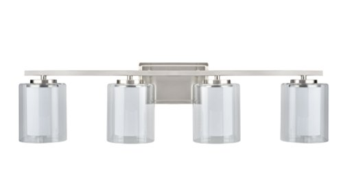 Aspen Creative 62104, Four-Light Metal Bathroom Vanity Wall Light Fixture, 32