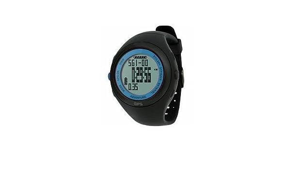 Amazon.com: Calidad impermeable de navegación GPS reloj de pulsera deportivo Con Cronógrafo Cronómetro - Medidas calorías quemadas y grasa, ...