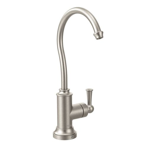 - Moen S5510SRS Sip Traditional Cold Water Kitchen Beverage Faucet with Optional Filtration System, Spot Resist Stainless