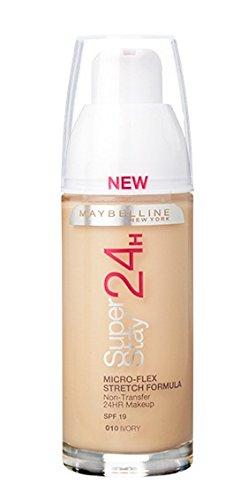Maybelline Superstay 24HRS 10 Ivory Frasco dispensador - base de maquillaje (Ivory, Piel mixta