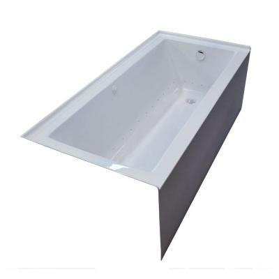Amber 5 ft. Air Bath Tub in White