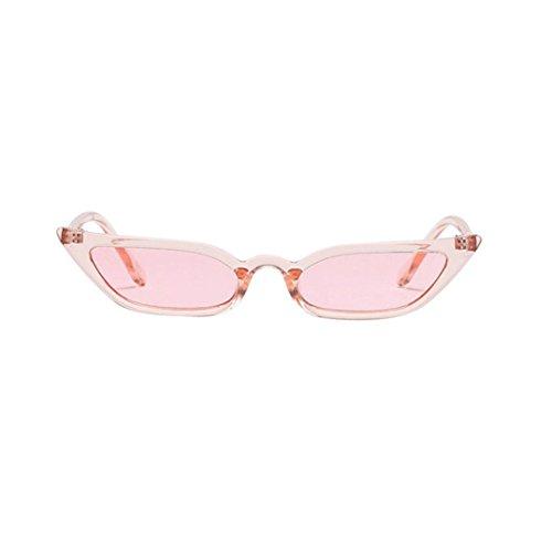 Frame Pink Women Uv400 Occhiali Cat Outside Retro Uv Eye Eyewear sole Small Protection Vintage Fashion da Adeshop awzCxqUz