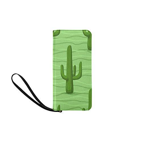 Wallet Green Cactus Printed...