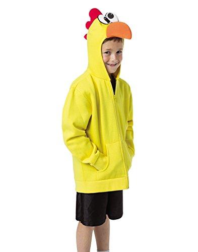 Rasta Imposta Juniors Hoodie Chicken, Yellow/Multi, One -
