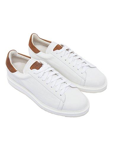 Fradi Scarpe Sneakers Bianco con Dettagli Tabacco SG750 Vera Pelle Made in Italy 181SG750181PA8310