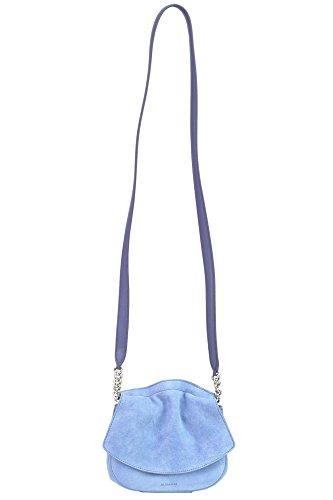 Jil Sander Mujer MCGLBRE03055E Azul Claro Gamuza Bolso De Hombro