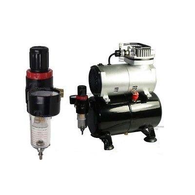 Mini Compresor X aerógrafo con depósito 3 L para hobbies Hobby 1/5HP