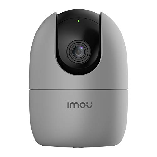 Imou 360 Degree Security Camera (Grey), Up to 256GB SD Card Support, WiFi & Ethernet Connection, 1080P Full HD, Privacy…